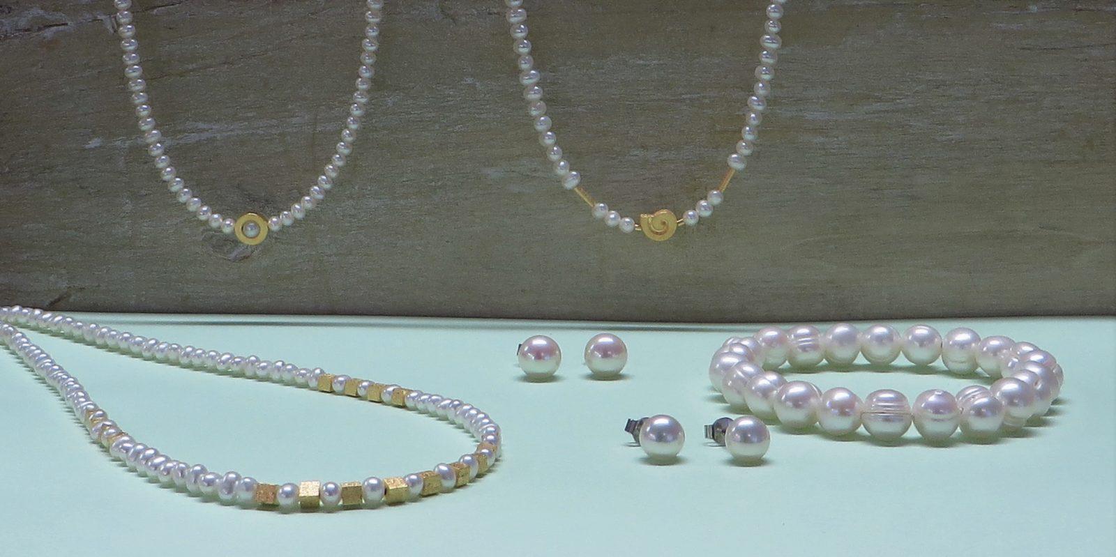 Perlenketten passend zum Brautkleid von Bernd Wolf