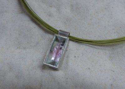 Silberanhänger mit Wassermelonen-Turmalin