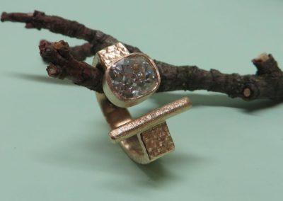 Diamantring Roségold