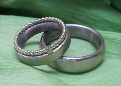 schlichte weissgold ringe eheringe mit vorsteckring