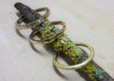 Verlobungsringe Vorsteckringe geschmiedet Gelbgold